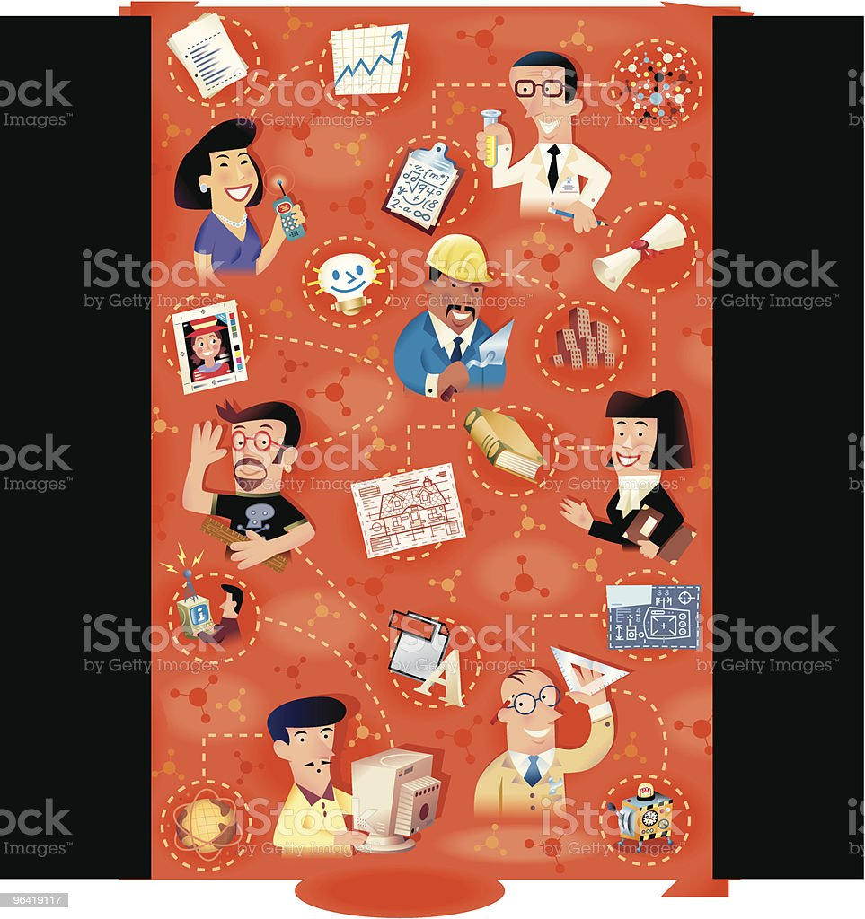 Design Family royalty-free stock vector art
