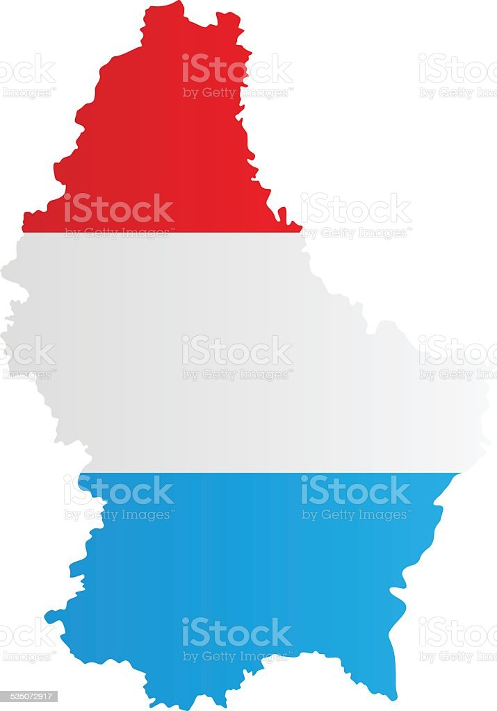 Design Flag-Map of Luxembourg vector art illustration