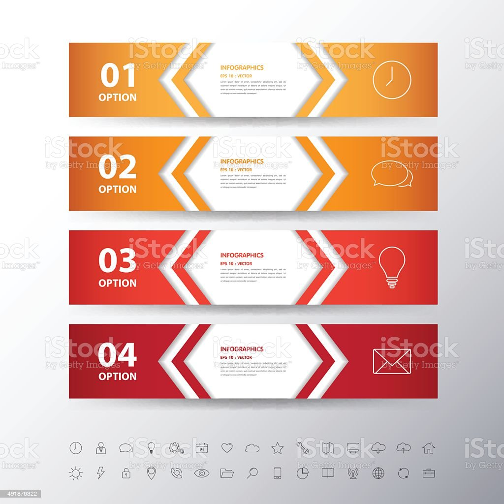 Design flat shadow step number banners /graphic or website with vector art illustration