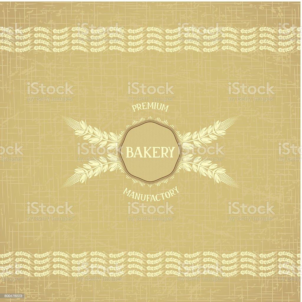 Design for bakery vector art illustration