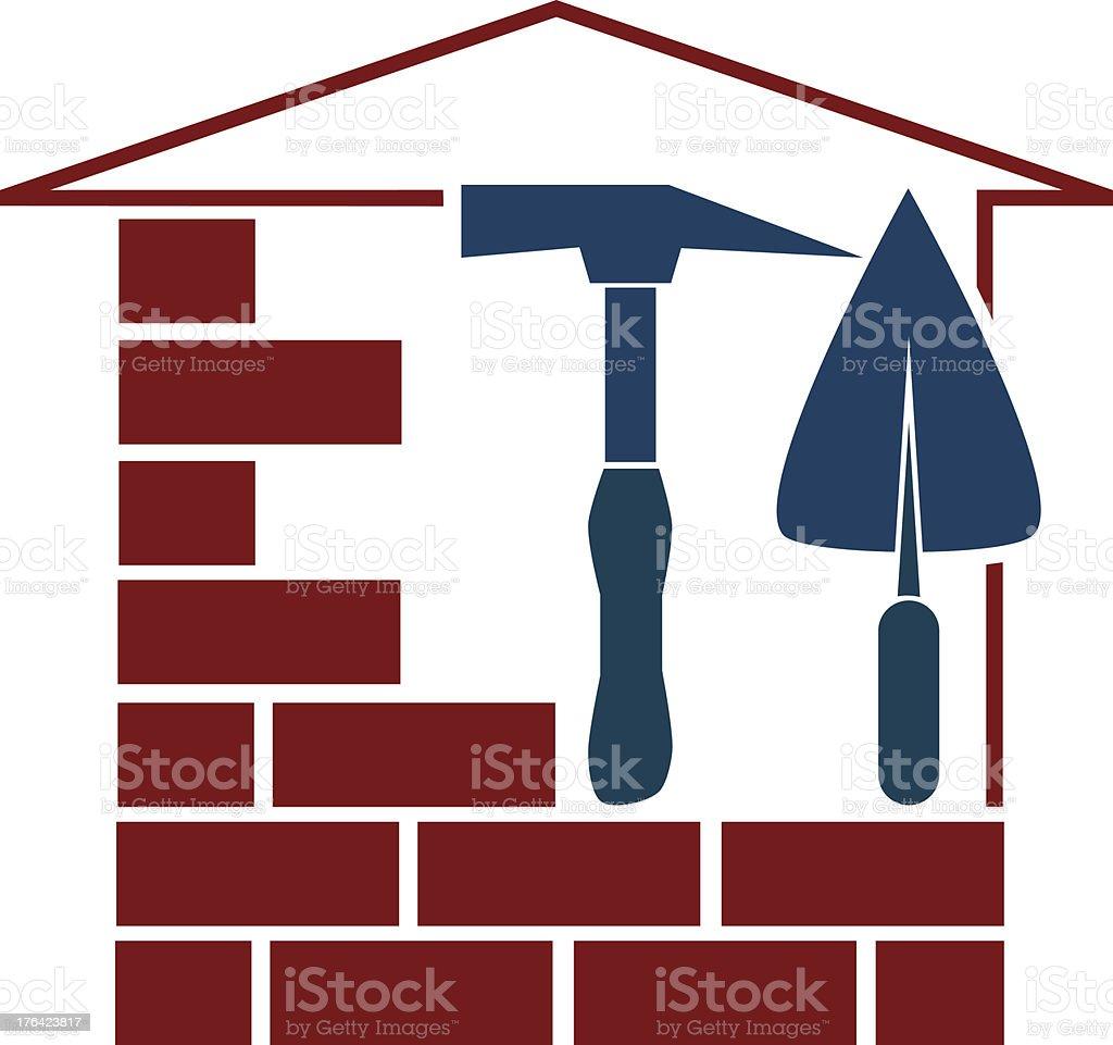 Design for construction business vector art illustration