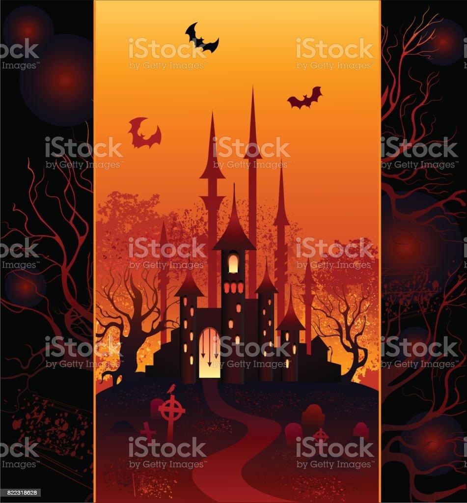 design for halloween vector art illustration