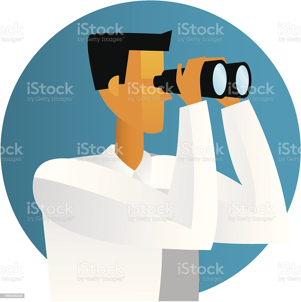 design guy binoculars vector art illustration