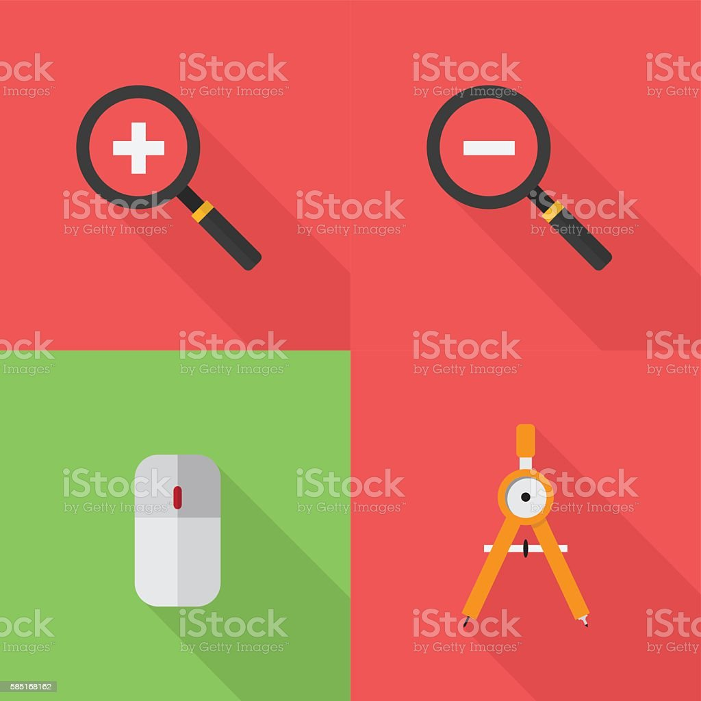 Design Icons Set vector art illustration