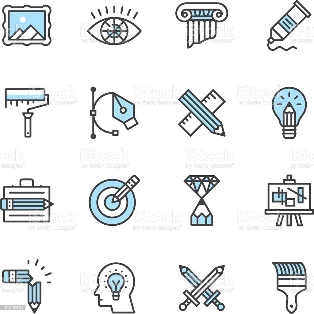 Design Icons vector art illustration