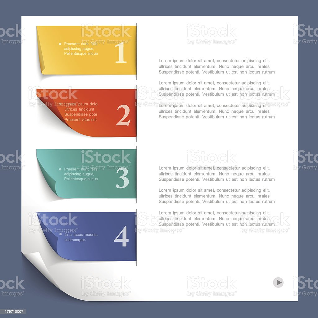 Design Infographic Template royalty-free stock vector art