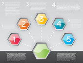 Design Infographic with Five Options.