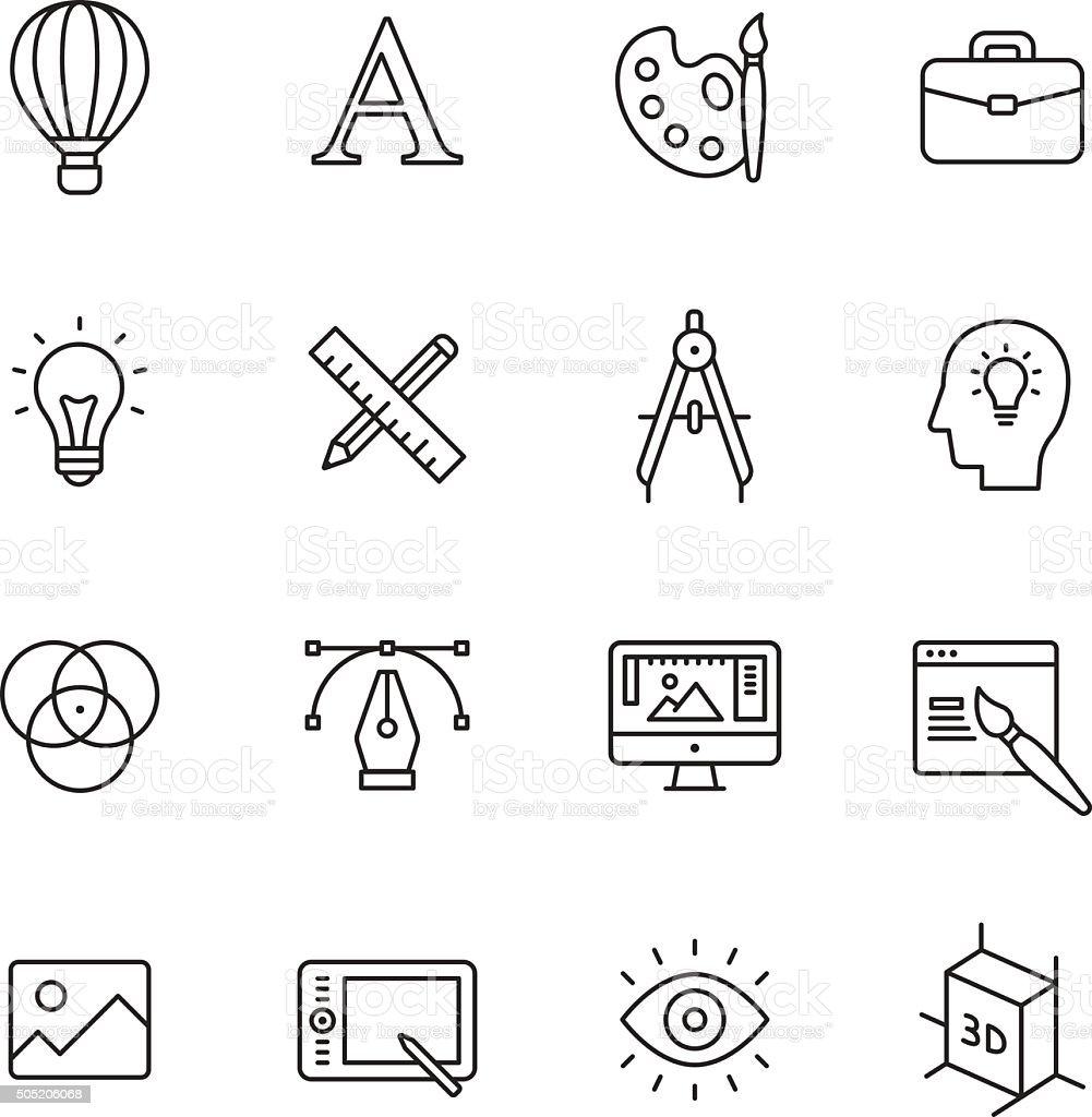 Design Line Icons vector art illustration