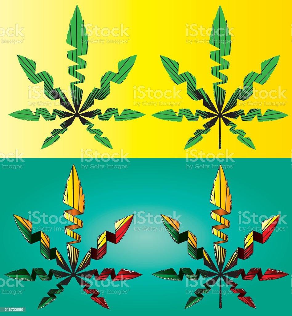design marijuana cannabis leaf symbol background vector illustration
