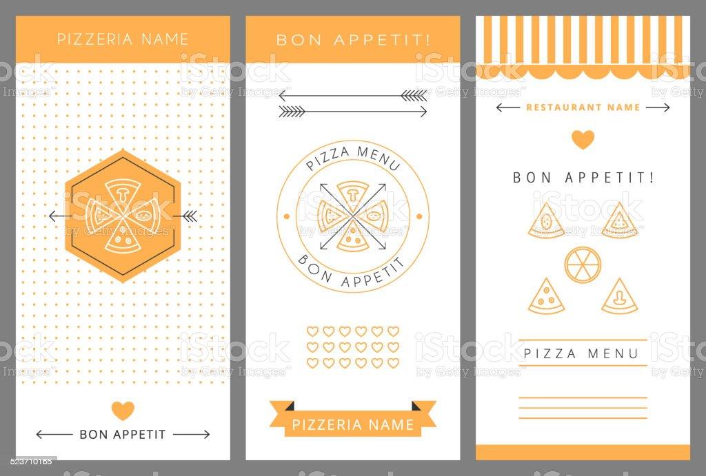 Design menu. Pizza. vector art illustration