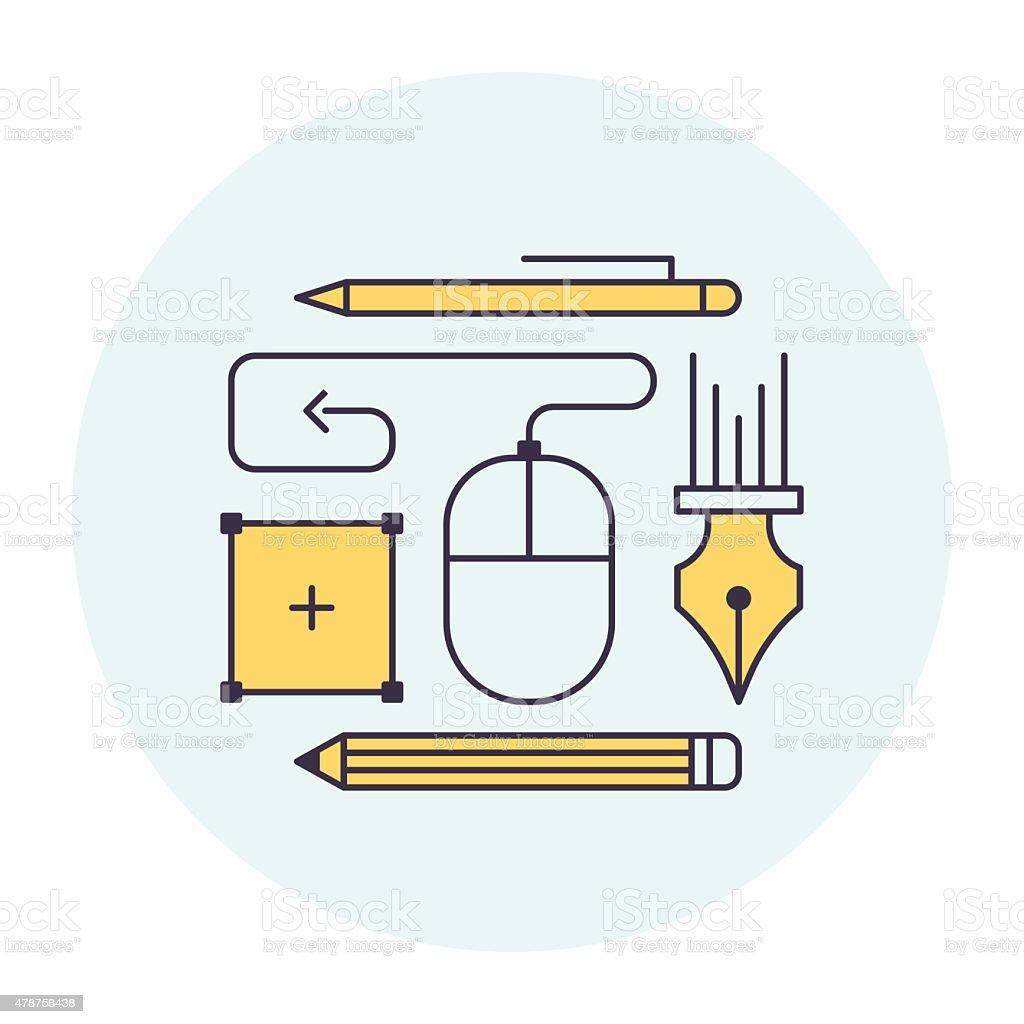 Design Software Symbol vector art illustration