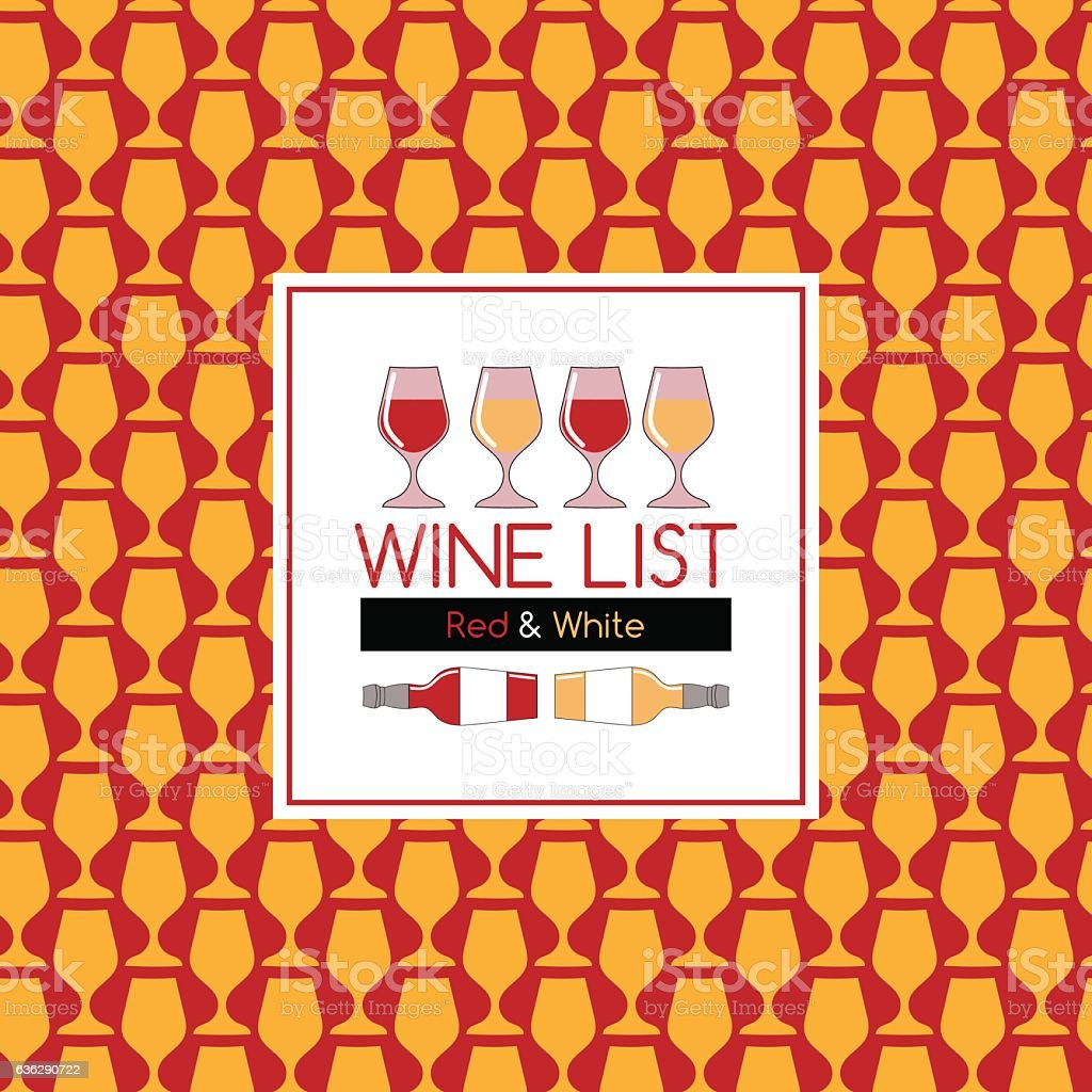 Design Template cover wine list vector art illustration