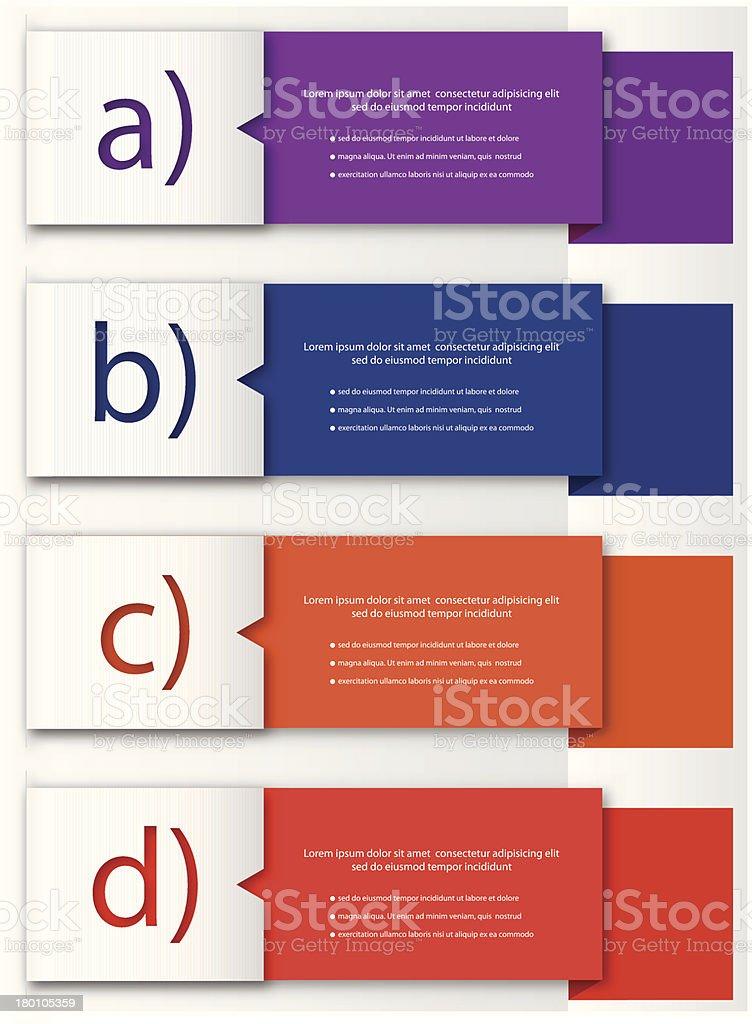 Design template. Vector royalty-free stock vector art