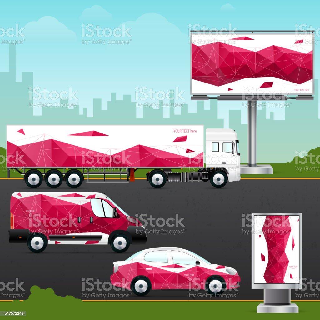 Plantilla De Diseño De Vehículo Publicidad Al Aire Libre O ...