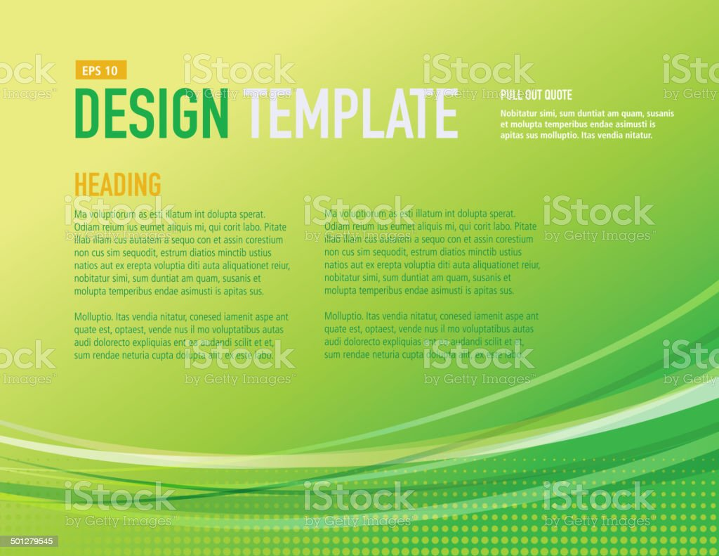 Design template with sample text layout vector art illustration
