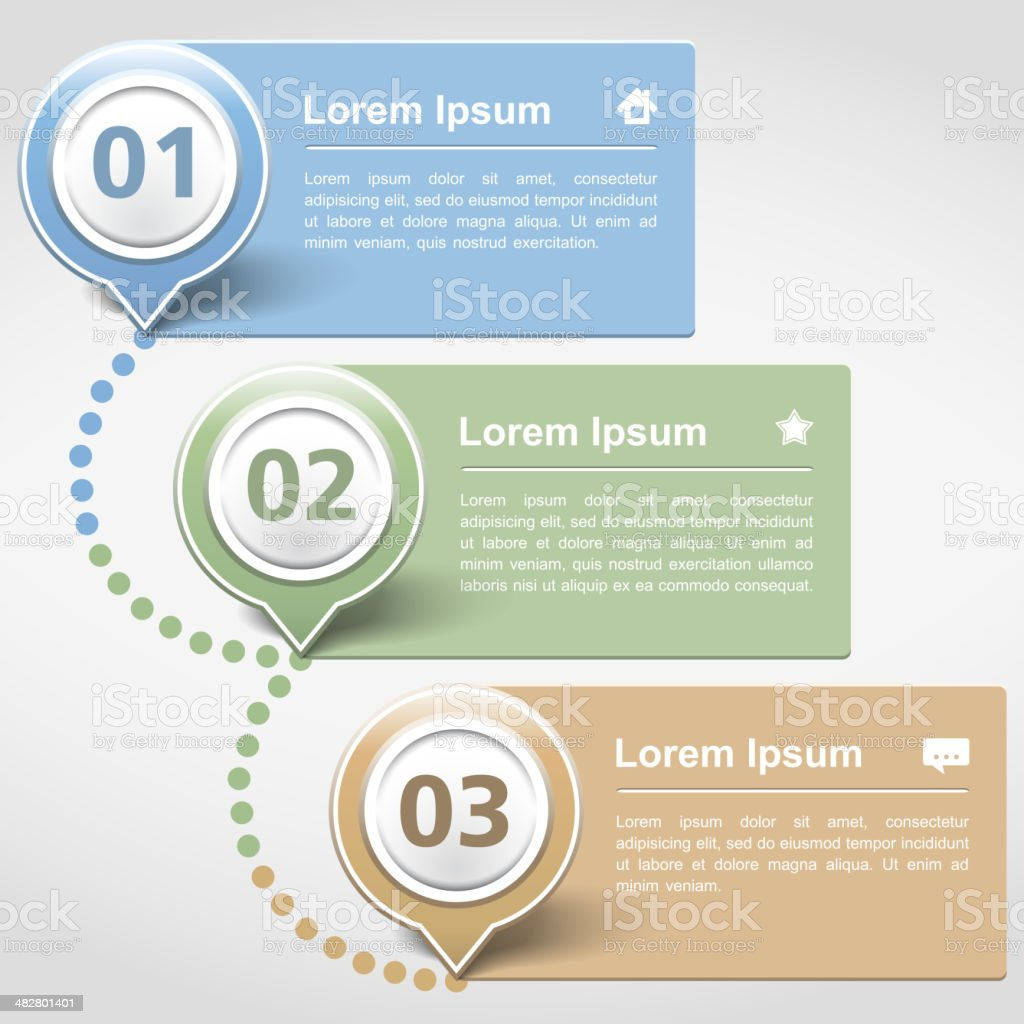 Design Template with Three Banners royalty-free stock vector art
