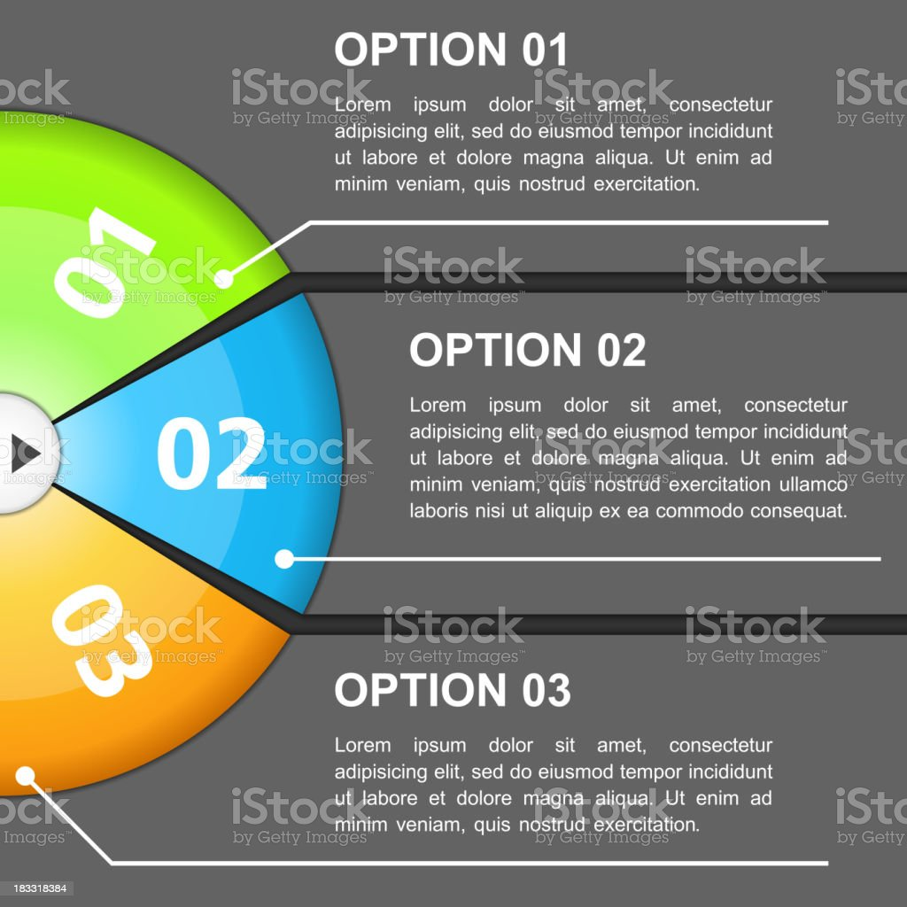 Design Template with Three Options royalty-free stock vector art