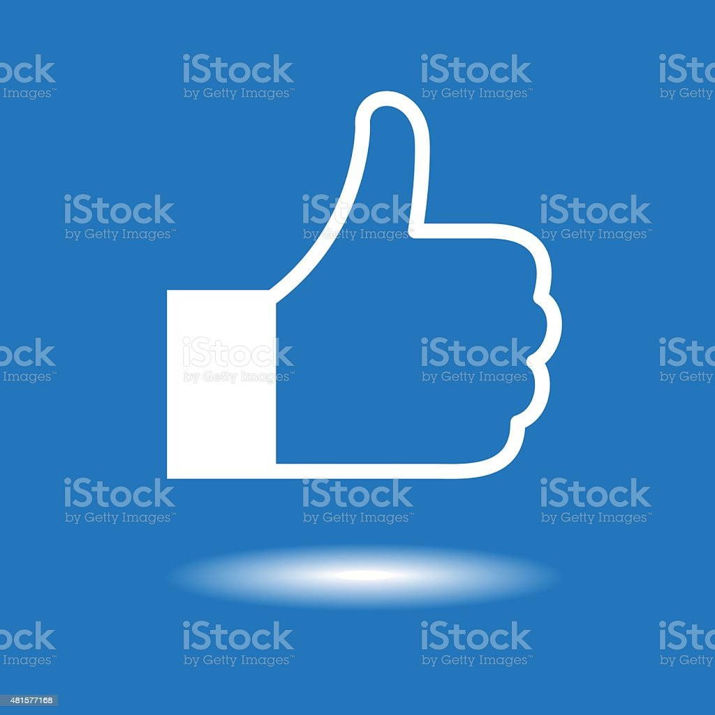 Design thumbs up icon vector art illustration