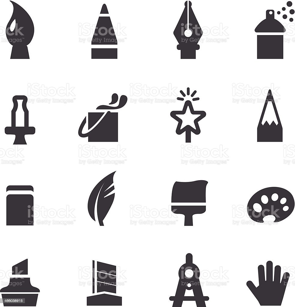 Design Tools Icons - Acme Series vector art illustration