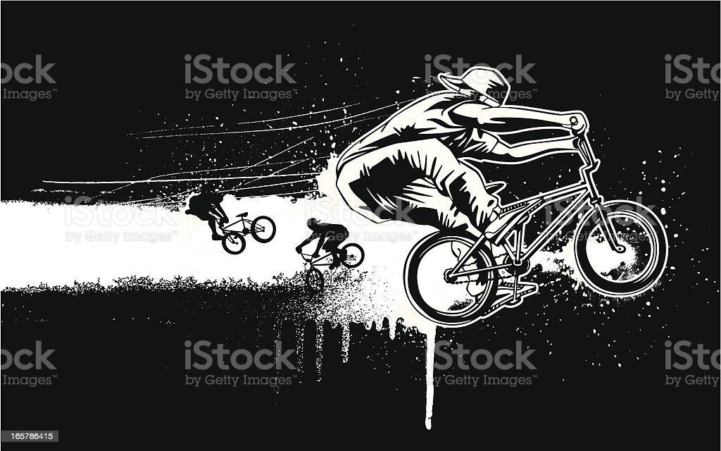 BMX Design vector art illustration