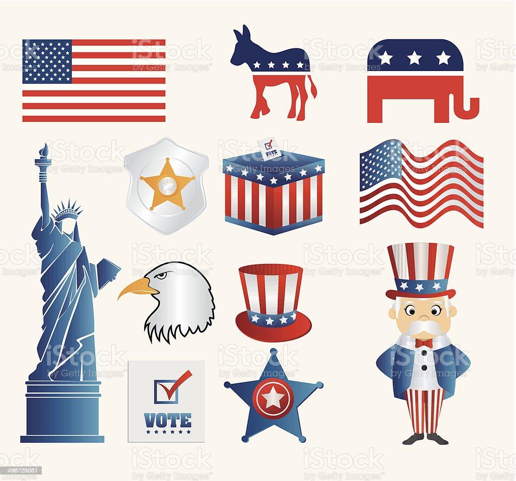 USA design vector art illustration