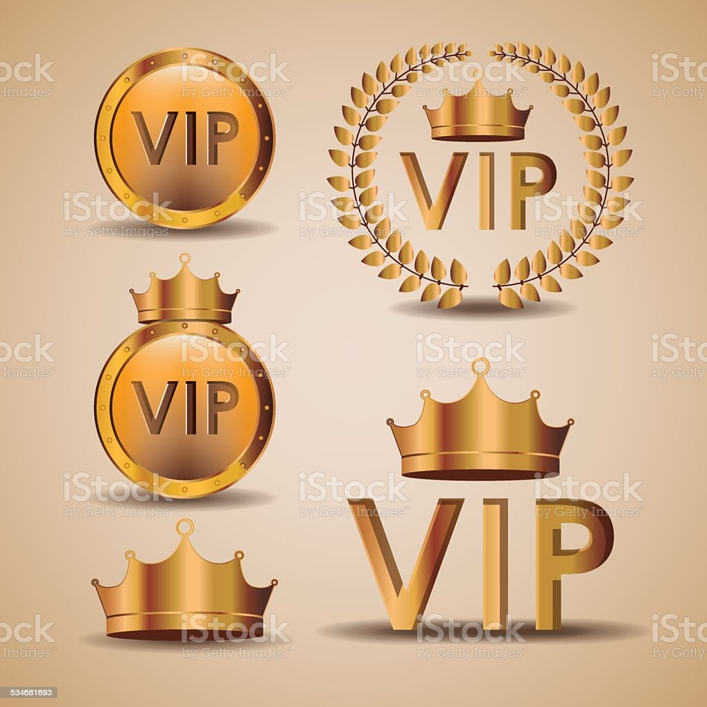 VIP design, vector illustration. vector art illustration