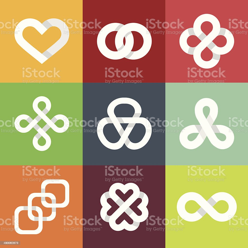 Design vector logo templates - infinity symbols vector art illustration