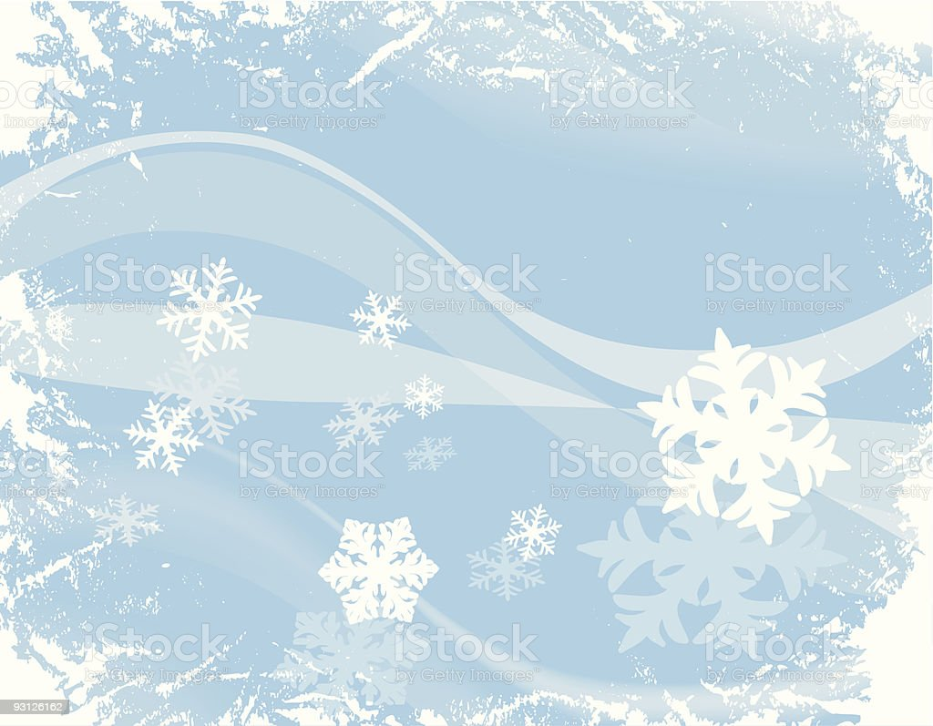 design with snowflakes royalty-free stock vector art