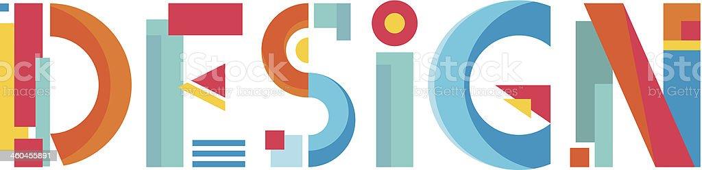 Design Word Abstract Logo Sign vector art illustration