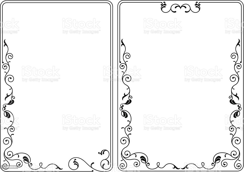 Designer Border, Frame royalty-free stock vector art