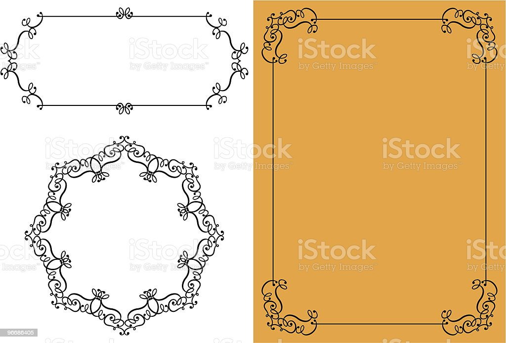 Designer Delicate Frame royalty-free stock vector art
