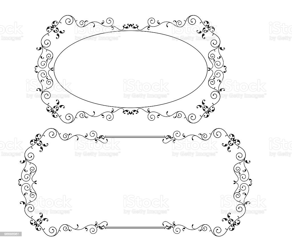 Designer Ornamental Frames vector art illustration