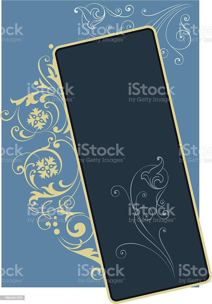 Designer Scroll Panel vector art illustration
