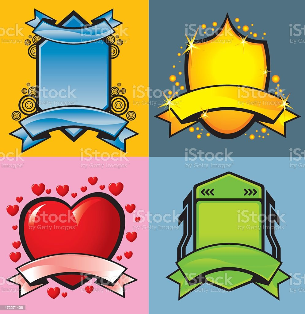 Designer Template Emblems royalty-free stock vector art