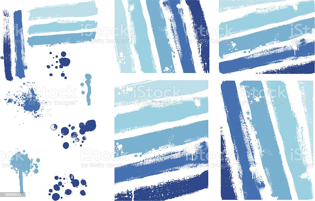 Designer Vector Element Collection - Painted Texture Stripes Background vector art illustration