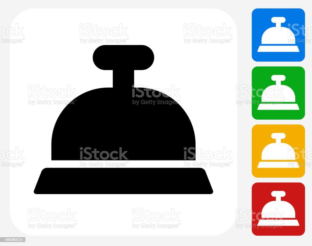 Desk Bell Icon Flat Graphic Design vector art illustration