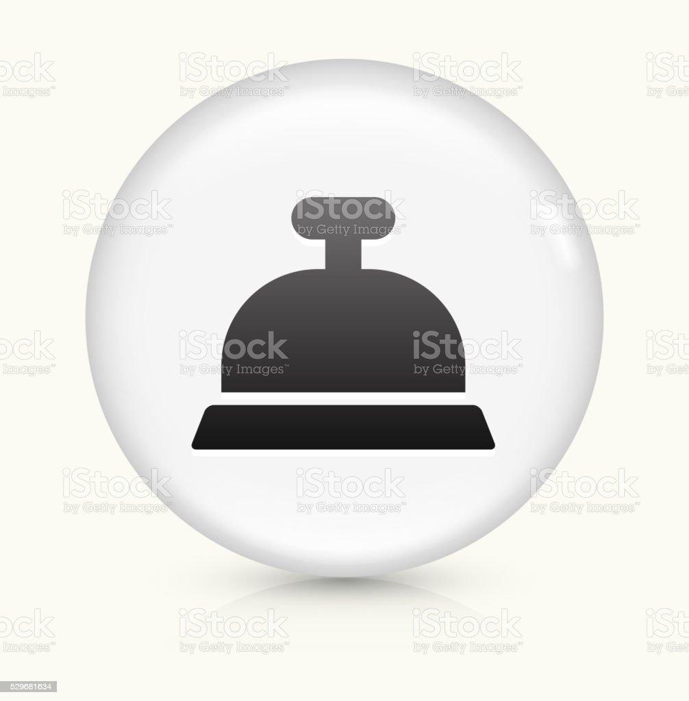 Desk Bell icon on white round vector button vector art illustration