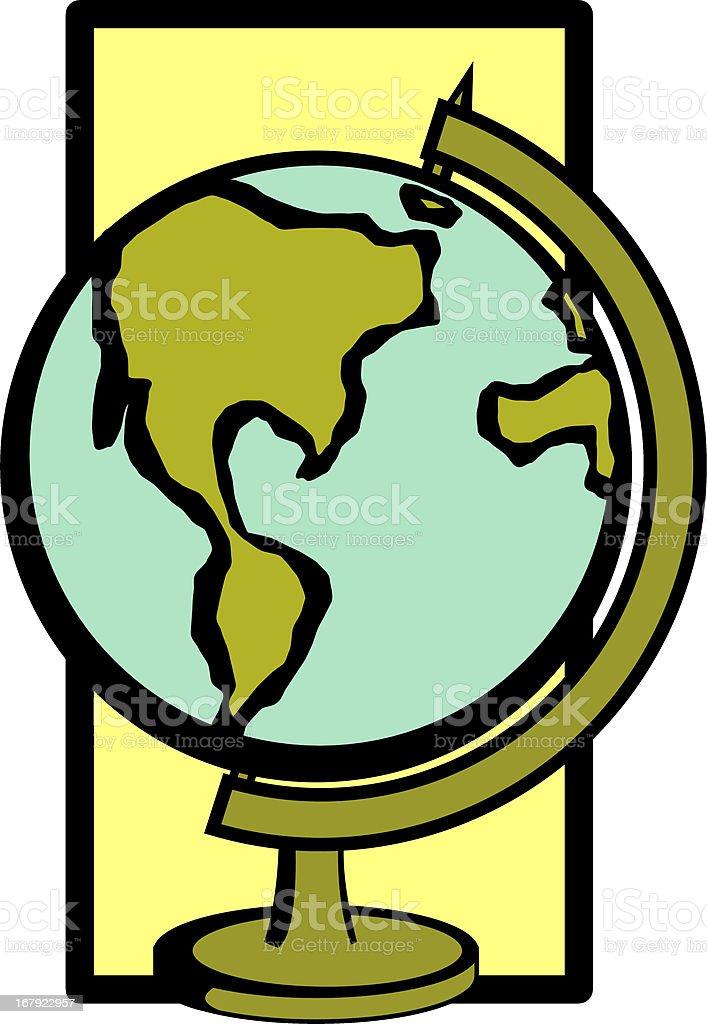 desktop earth globe royalty-free stock vector art