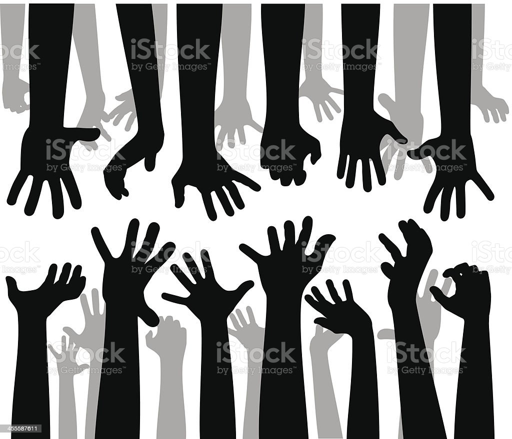 Despaired Hands vector art illustration