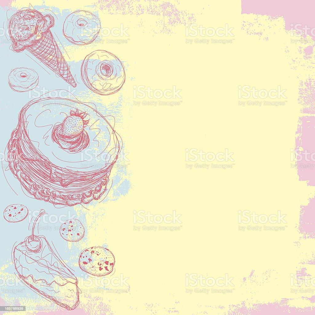Dessert background royalty-free stock vector art