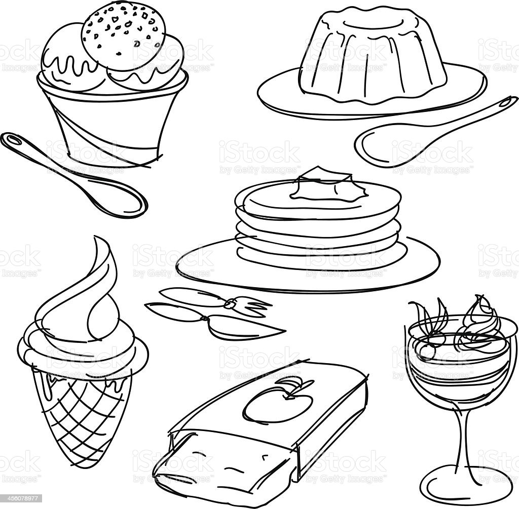 Dessert collection royalty-free stock vector art