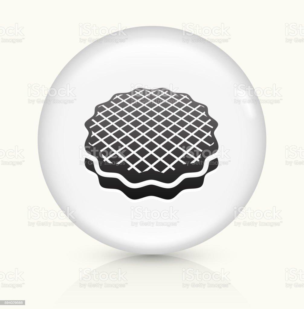 Dessert icon on white round vector button vector art illustration