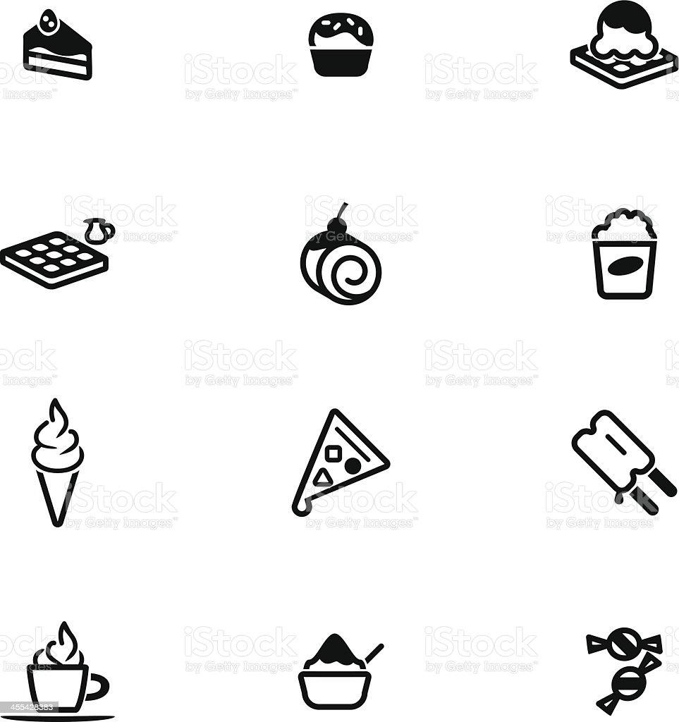 Dessert Icon Set royalty-free stock vector art