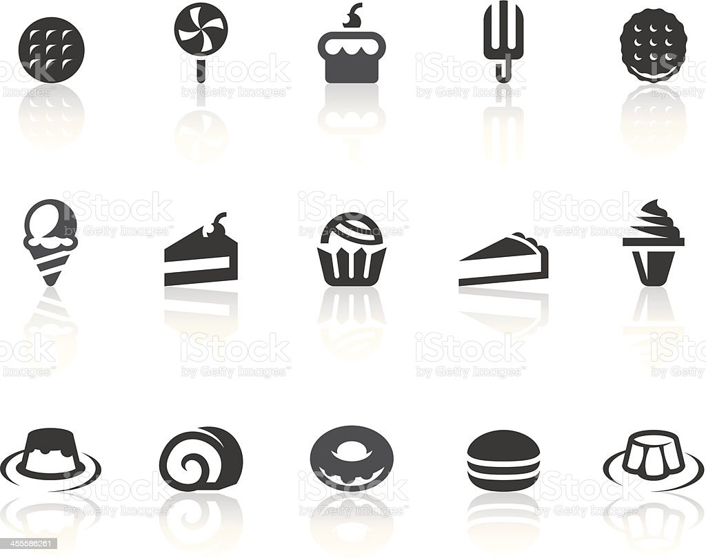 Dessert Icons | Simple Black Series vector art illustration