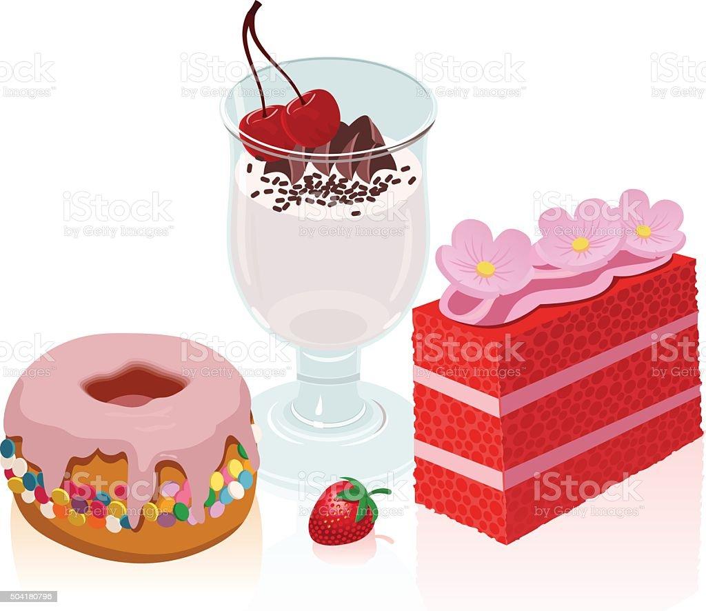 Dessert vector art illustration