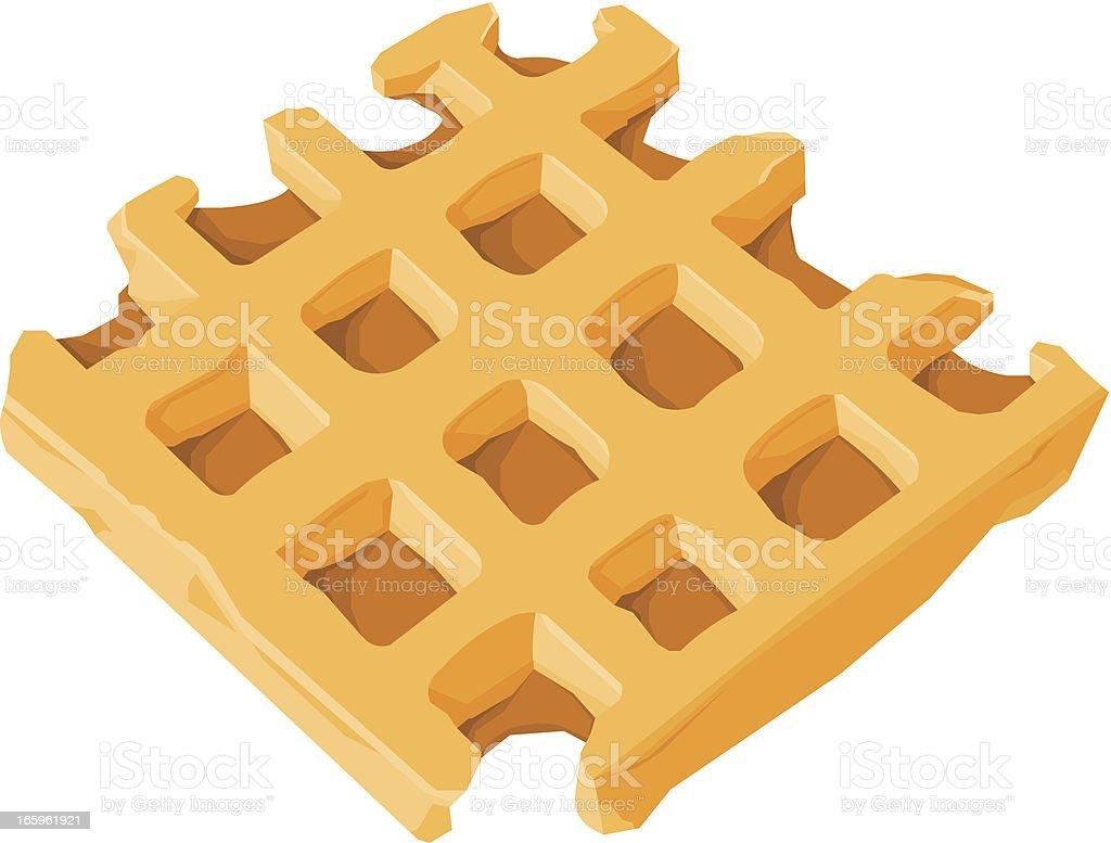 Dessert Waffle vector art illustration