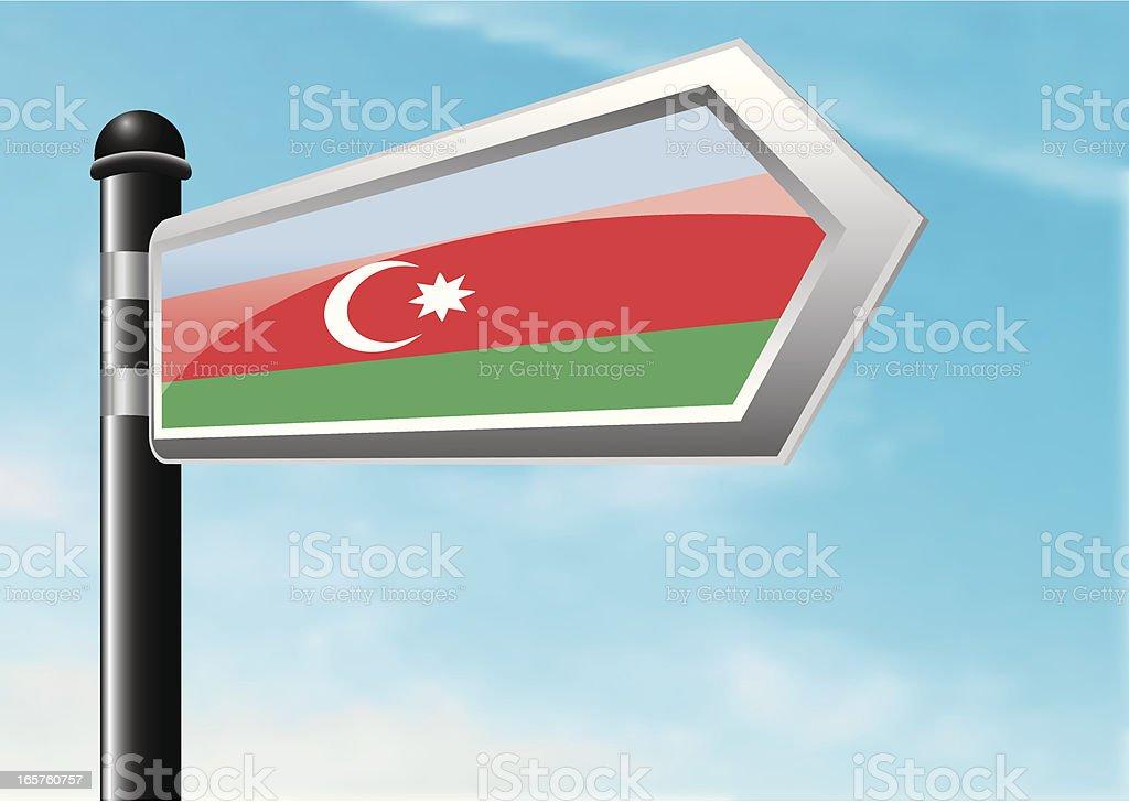 Destination: Azerbaijan royalty-free stock vector art