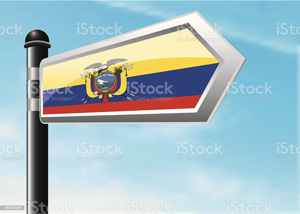 Destination: Ecuador royalty-free stock vector art