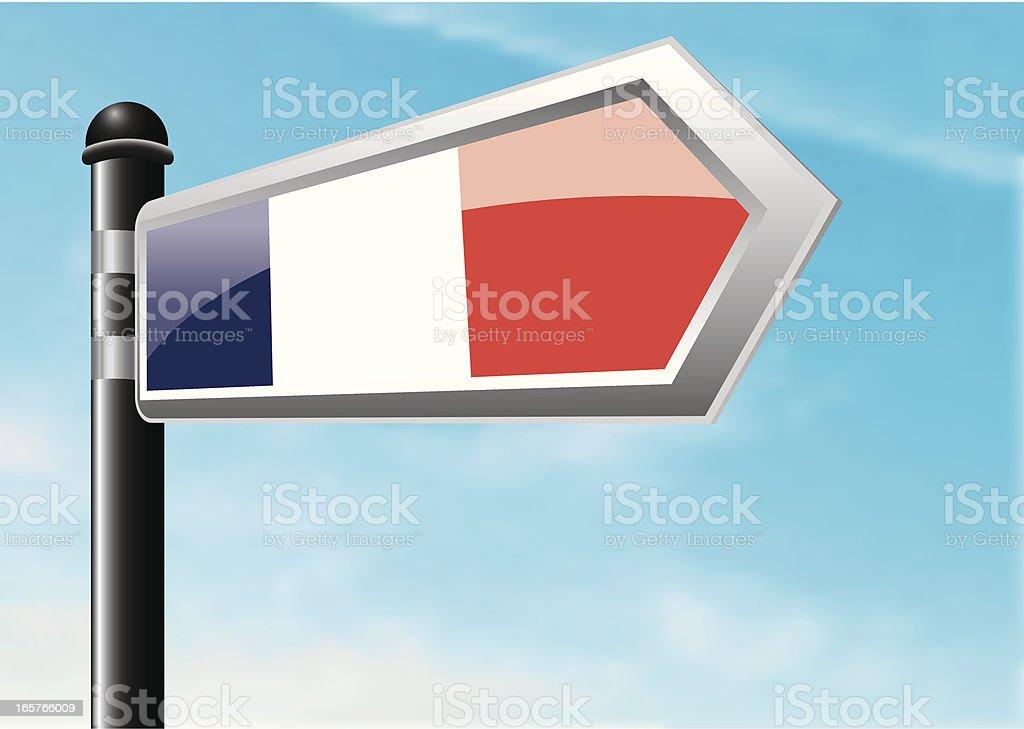 Destination: France royalty-free stock vector art