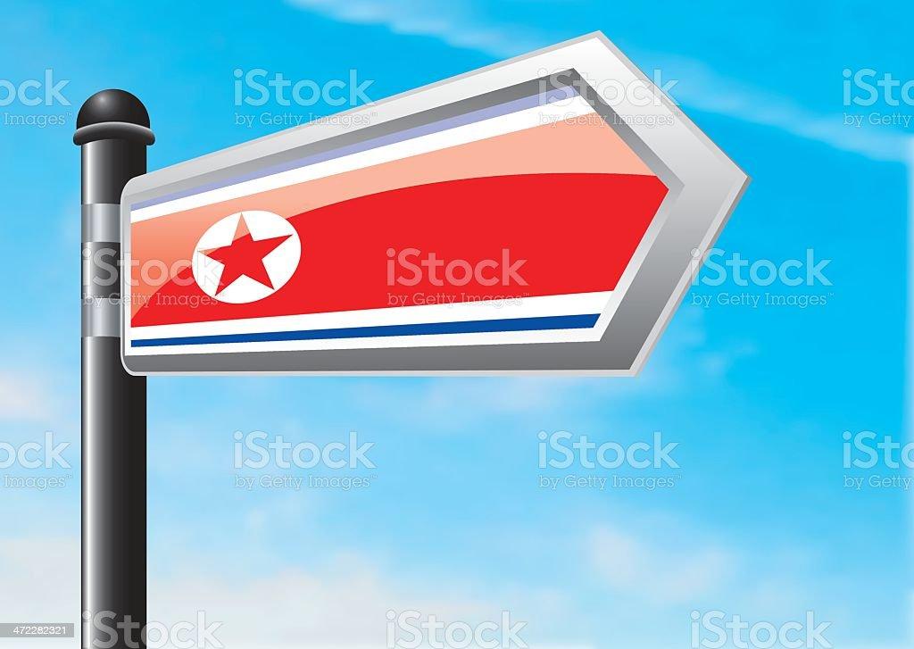 Destination: North Korea royalty-free stock vector art
